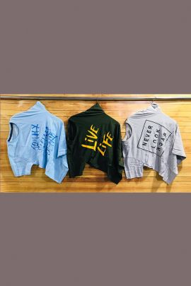 Wholesale Casual College Wear Printed Cotton T Shirts Collection