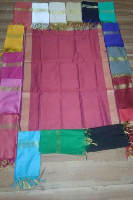 Wholesale Casual Daily Wear Plain Banarasi Silk Dupatta Collection