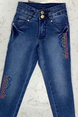 Wholesale Casual Daily Wear Plain Denim Girls Jeans Collection