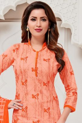 Wholesale Casual Daily Wear Printed Cotton Plazzo Salwar Kamiz Collection