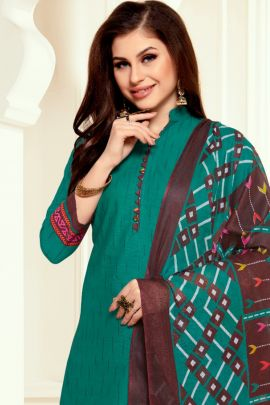 Wholesale Casual Ethnic Style Cotton Printed Patiyala Suit Collection