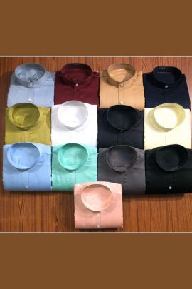 Wholesale Casual Wear Plain Mens Cotton Full Sleeve Shirt Collection