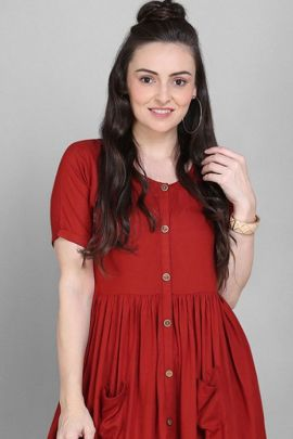 Wholesale Casual Wear Rayon Solid Shirt Dress By Desney Fashion