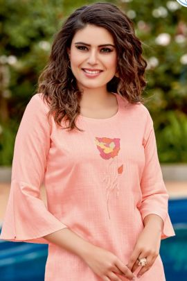 Wholesale College Wear Embroidery Viscose Tops Set