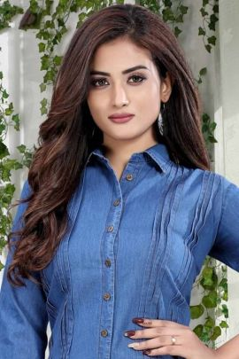 Wholesale College Wear Hand Work Denim Privaa Shirts Collection