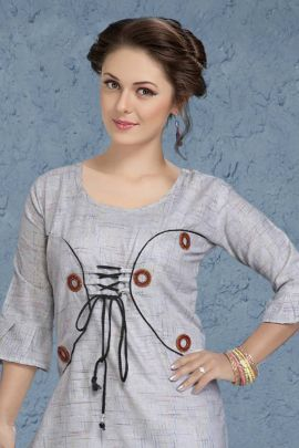 Wholesale College Wear Printed Cotton Kurti Set