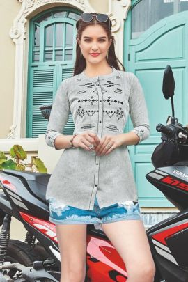 Wholesale Cotton Embroidery Work Stylish Western Tops Collection