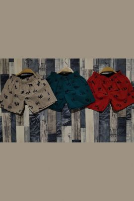 Wholesale Cotton Printed Daily Wear Kids Shorts