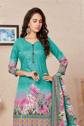 Wholesale Cotton Printed Daily Wear Simple Dress With Dupatta Collection