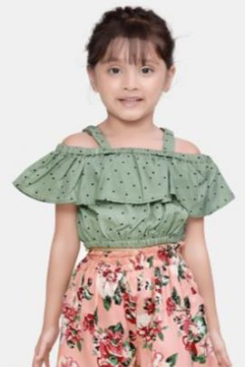 Wholesale Cotton Printed Event Wear Stylish Two Piece Set For Girls Collection