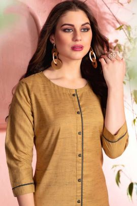 Wholesale Cotton Simple Plain Daily Wear Knee Length Kurti Collection