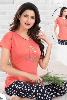 Wholesale Cotton Sinker Night Wear Night Suit Collection