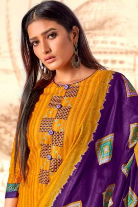 Wholesale Daily Casual Wear Printed Cotton Salwar Suit Collection