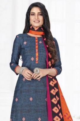 Wholesale Daily Regular Wear Printed Cotton Ready Made Patiyala Suit Collection