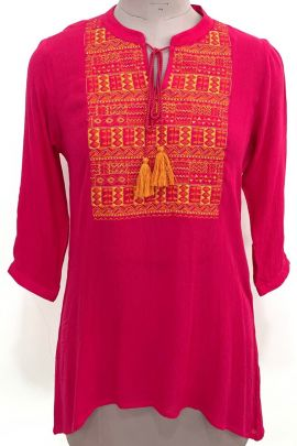 Wholesale Daily Wear Cotton Embroidery Tops Koelle Design Set