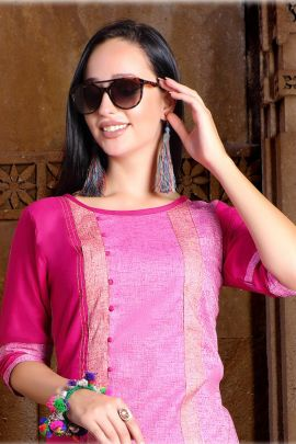 Wholesale Daily Wear Cotton Half Sleeve Plain Kurti Collection