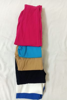 Wholesale Daily Wear Cotton Plain Lycra Girls Leggings Collection