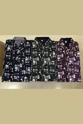 Wholesale Daily Wear Cotton Printed Mens Shirt Collection