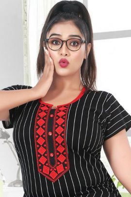 Wholesale Daily Wear Hosiery Cotton Printed Kavya Style Plus Nighty Collection