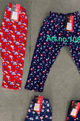 Wholesale Daily Wear Hosiery Printed Girls Capri Collection