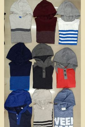 Wholesale Daily Wear Plain Cotton Boys Hoodie Tshirts Collection