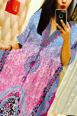 Wholesale Daily Wear Poly Viscose Printed Kaftans Collection