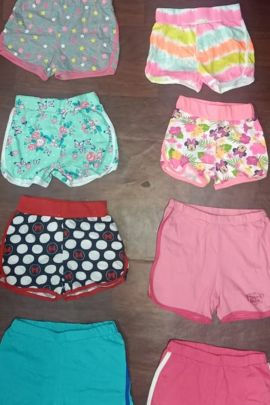Wholesale Daily Wear Printed Cotton Kid Girls Shorts Catelogue