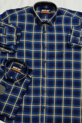 Wholesale Daily Wear Printed Cotton Mens Shirts RB Clothing Set