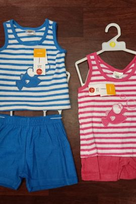 Wholesale Daily Wear Printed Summer Special Terry Cotton Infant Kids Collection