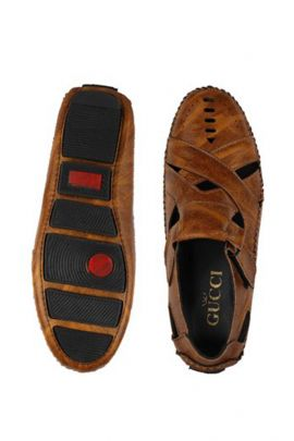 Wholesale Dark Brown Mens Leather Sandals Collection