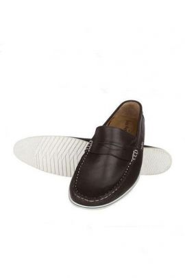 Wholesale Dark Brown Rubber Stylish Mens Loafer Collection