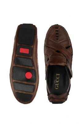 Wholesale Dark Brown Stylish Mens Leather Sandals Collection