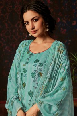 Wholesale Ethnic Event Wear Printed Rayon Plazzo Salwar Kamiz Collection