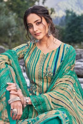 Wholesale Event Wear Printed Pashmina Suit With Plazzo and Dupatta By Alok Suit