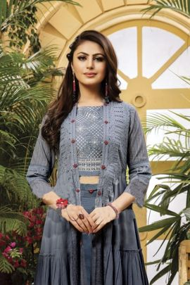 Wholesale Fancy Fabric Embroidery Work Designer Western Wear Three Piece Collection