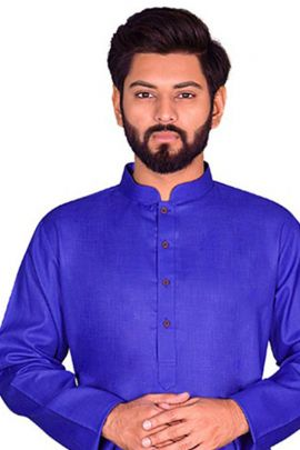 Wholesale Fancy Festive Wear Plain Cotton VND Mens Kurta Payjama