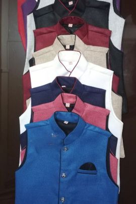 Wholesale Fancy Party Wear Jute Boys Modi Jackets Collection