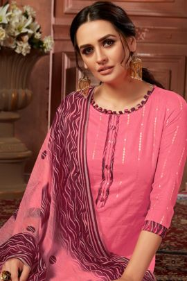 Wholesale Festive Fancy Wear Gold Foil Printed Patiyala Salwar Suit Collection