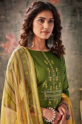 Wholesale Festive Wear Embroidered Cotton Belliza Designer Studio Salwar Suit With Dupatta Set