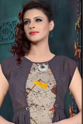 Wholesale Festive Wear Printed Rayon Kurti Collection