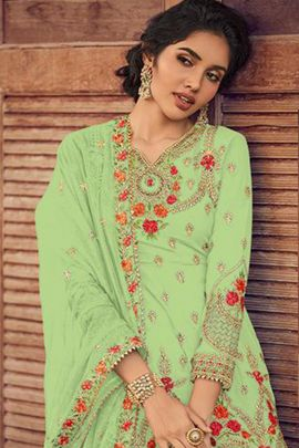Wholesale Georgette Embroidery Work Pakistani Suit With Dupatta Collection