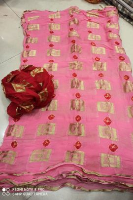 Wholesale Georgette Printed Daily Wear Stylish Event Wear Saree With Blouse Piece Collection