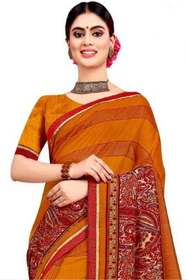 Wholesale Georgette Printed Fesitve Wear Himpriya Fashion Saree With Blouse Piece Collection