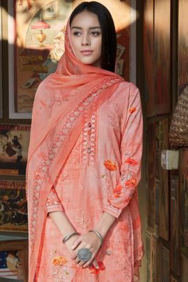 Wholesale Jam Cotton Flower Printed Event Wear Dress With Dupatta Collection