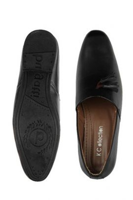 Wholesale Leather Black Party Wear Mens Loafers Collection