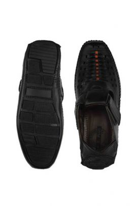 Wholesale Midnight Black Mens Leather Sandals Collection