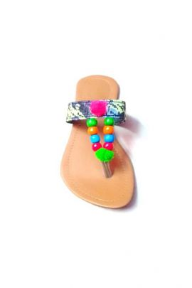 Wholesale Multi Color Rubber Ladies Jaipuri Slipper  Collection