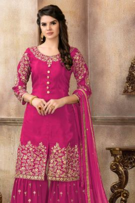 Wholesale Occasion Wear Georgette Embroidered Suit Collection