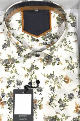 Wholesale Office Casual Wear Cotton Printed Shirts Collection