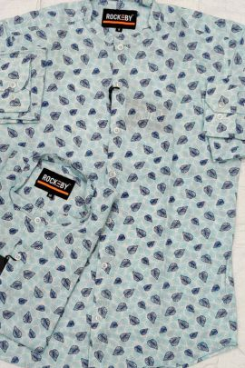 Wholesale Office Wear Cotton Printed Mens Shirts RB Clothing Set